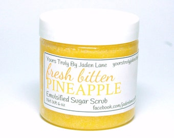 Fresh Bitten Pineapple Sugar Scrub - Pineapple Sugar Scrub - Tropical Sugar Scrub
