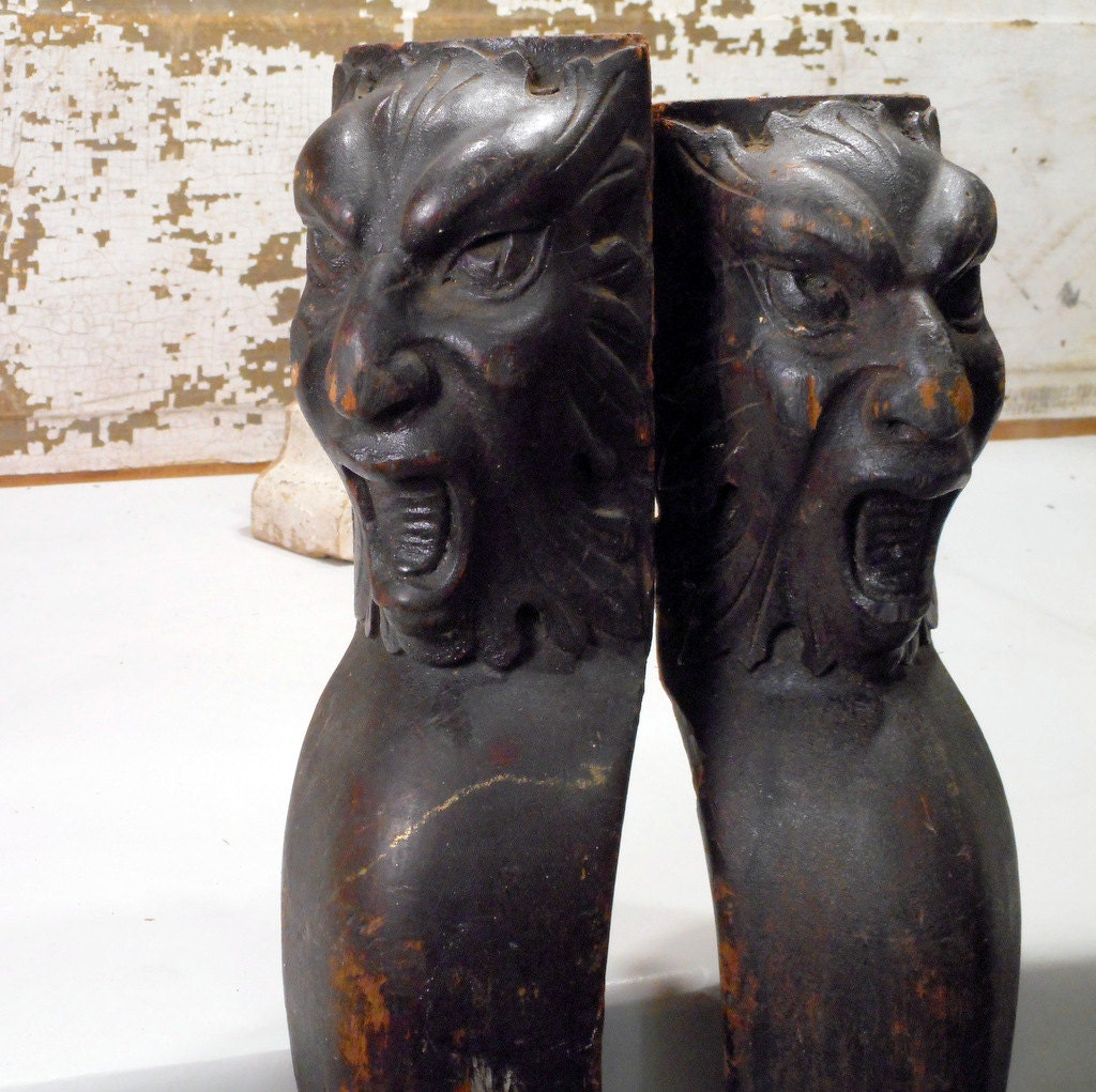 Carved Griffin Table Legs Or Gargoyles Ball Claw Feet
