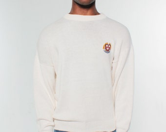Harvard Univeristy Veritas Shield Cream Sweater