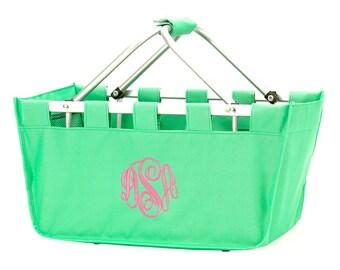 Mint Monogrammed Market Tote - Market Tote Bag - Monogram Market Bag - Market Tote Bag