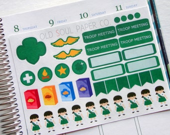 50% OFF CLEARANCE Girl Scout Planner Stickers