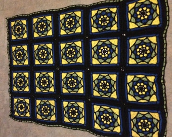 Handcrafted Stained Glass Afghan