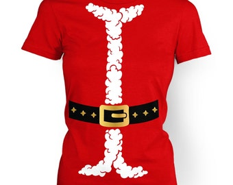 Santa Costume womens t-shirt