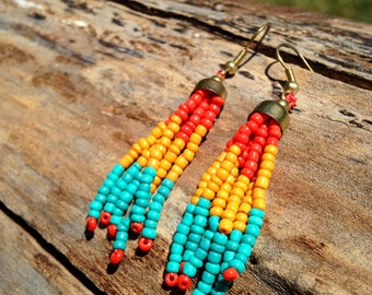 Beaded Earrings Native American Jewelry Clementine