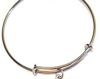 Tough Girl Bangle Bracelet, Adjustable Expandable Bangle Bracelet, Tough Girl Charm, Tough Girl Pendant, Tough Girl Jewelry, Feminist Bangle