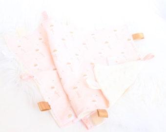 Minky Tag Blanket (Security Blanket)