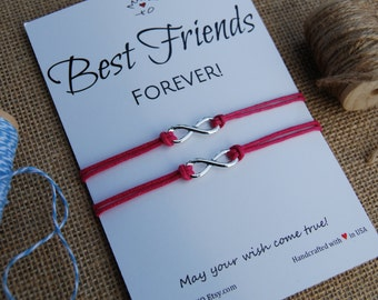 Best Friend Bracelet Infinity Charm Bracelet ~ BFF Gift Friendship Bracelet Make a Wish Bracelet Gift for Friend Best Friend Forever