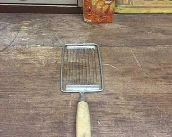 vintage Metal/wood cheese slicer