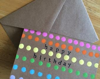 Birthday Cards // Set of 4 // Greeting Cards // Happy Birthday