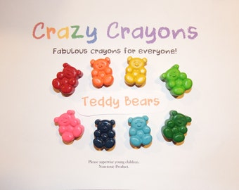 Teddy Bear Crayons - Set of 8