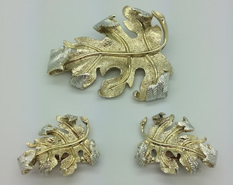 SARAH COVENTRY WINDFALL Brooch Earrings Set *Free Shipping*