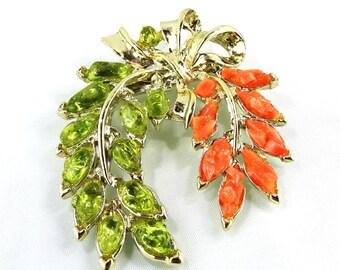 Green and Orange Brooch