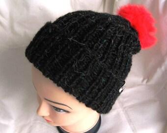 EL BURRO Bobble Beanie wooly Hat