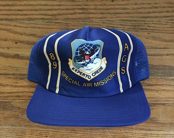 Vintage 80s Special Air Missions Trucker Hat Snapback Baseball Cap