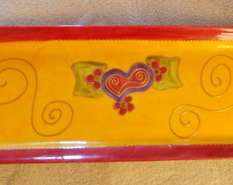 Limoge Hand Painted Tray