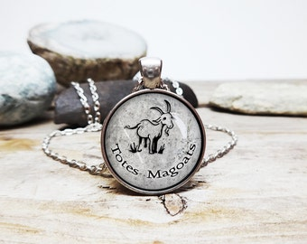 Totes Magoats necklace totes love you necklace totes magoats pendant goat necklace BFF jewelry friends for life BFF necklace hipster pendant