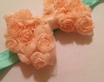 Just Peachy Rose Bow