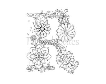 Letter R Coloring