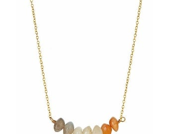 Fly Me to the Moon Cluster Necklace