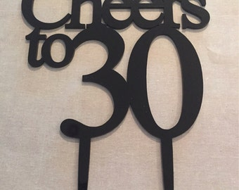 Cheers to 30 Cake Topper