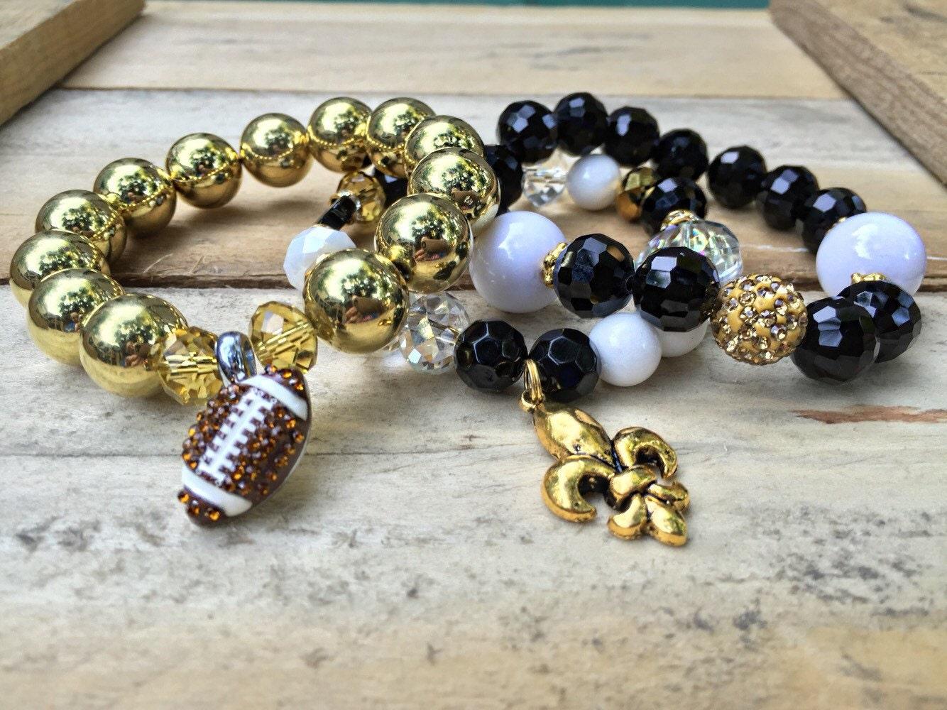 new orleans saints football bracelets nolo jewelry fleur de