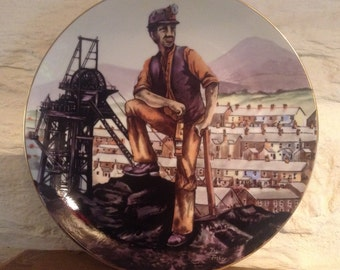 David Fisher/Coal Miners Plate/Historical Plate/Welsh Plate/Coal Mines