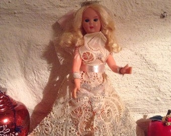 Vintage Reworked Fairy, Delicate/Christmas Angel/Tree Topper