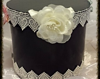Lace and Butterflies Mini Hat Box