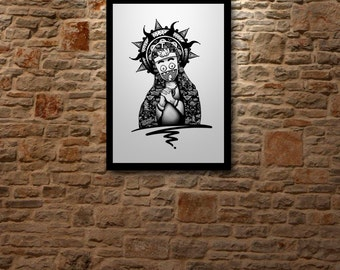 MADONNA, drawing Art poster limited edition of 5 digital prints signed & numered.