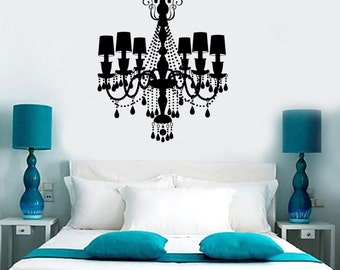 Wall Vinyl Decal Chandelier Amazing Decor For Your Place Garanteed Quality 1296dz