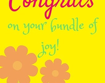 Congrats on your bundle of joy... greeting card