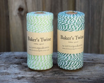 Green Bakers Twine FREE SHIPPING 100m - 12ply 100% Cotton Twine