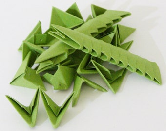 250pcs Olive Green 3D Origami Paper Triangles