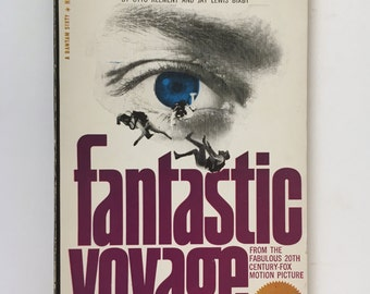 Fantastic Voyage, Isaac Asimov, Vintage Science Fiction Book, Bantam Book Paperback, 1966, Gift for Sci Fi Fan, Science Fiction Movie