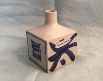 Otagiri Square Bud Vase, Hand painted