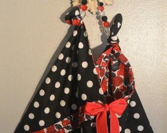 Polka Dot & Flower Reversible Bag