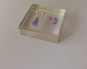 Pale purple and pink earrings