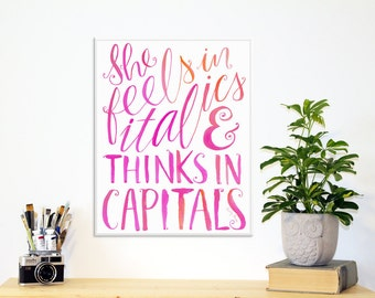 Dorm Decor - Printable Dorm Wall Art Quote - Instant Download | Inspirational Quote Print | Typography Quote Printable | Pink Dorm Room Art