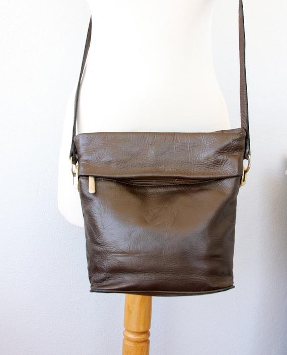 Vintage leather crossbody bag Lynx leather messenger handbag Saddle bag Brown shoulder bag Womens long strap purse bag