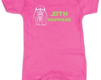 Star Wars shirt, Darth Vader Shirts, Star Wars Gift Idea, Girls T-Shirts, Girl's Tshirt, Sith Happens