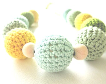 Crochet sling necklace, mom accessory, nursing mom necklace, breastfeeding necklace, baby accessories, babywearring