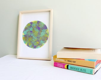 Paint Strokes Circle Print