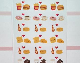 Food Pairs Mini Sticker Set