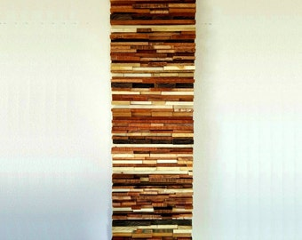 Reclaimed Wood Wall Art - Wood Wall Art - Modern Reclaimed Wood Wall Art
