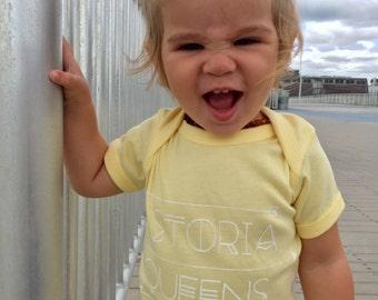 Astoria Queens baby onesie