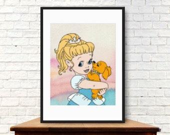 Little princess Cinderella Wall Art ,Printable Art, Inspirational Quote, Typography Art, Digital Prints,Wall Art Prints, Digital Download