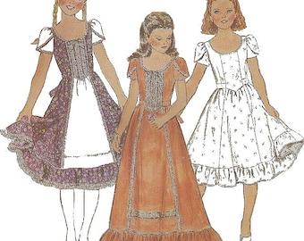 Vintage 70's Girls Dress Sewing Pattern UNCUT Butterick 4305 Size 12