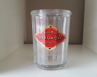 Very large jam Beaumont Paris France vintage jar - 20612