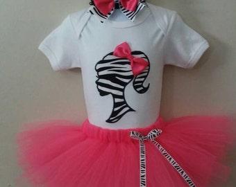 Barbie Silhouette tutu outfit