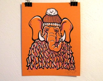 Wooly Mammoth Screen Print